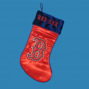 43cm Red Major League Baseball Boston Red Sox Applique Christmas Stocking