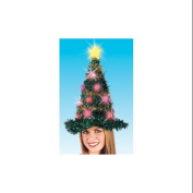48cm Light Up Adult Battery Operated Bright & Colourful Tinsel Christmas Tree Hat