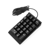 Mechanical Numeric Keypad,Jelly Comb USB Braid Cable Numpad 22-key Number Pad - Black