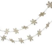 180cm Glittered Platinum Snowflake Novelty Christmas Garlands - Unlit