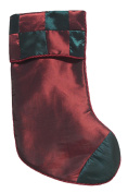 Red & Green Chequered Silk Christmas Stocking 43cm #23329200002
