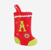 "16cm Red and Green Monogrammed ""A"" Mini Christmas Stocking"