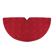 """18"""" Solid Red Quilted Christmas Decorative Mini Tree Skirt"""