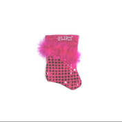 "18cm Pink Sequined Feathered ""Flirt"" Mini Christmas Stocking"