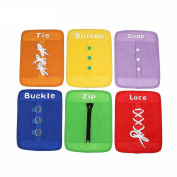 Baby Toy Dressing Frames Set of 6 Zip Snap Button Buckle Lace Tie Early Education Preschool Toys