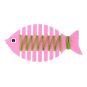 Kindergarten Wrapped Threading Wear Line Fish Manual Game Puzzle Early Learning Education Toys Pink