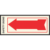 Hy-Ko Press-On Glow-In-The-Dark Safety Sign