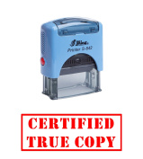 Red - CERTIFIED TRUE COPY Office Self-Inking Rubber Stamp Shiny Office stationery Stamp