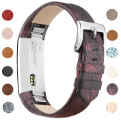 Vancle Strap for Fitbit Alta HR/Fitbit Alta, Adjustable Comfortable Replacement Leather Band with Stainless Steel Buckle for Fitbit Alta 2016 / Fitbit Alta HR 2017