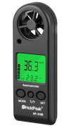 Holdpeak 866B-APP Digital Anemometer with Mobile APP or USB - THE BEST Wind Speed Metre Measures Wind Speed + Temperature + Wind Chill with Backlight