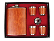 GMMH LN Hip Flask Set 240 ml 11 3 Hip Flask Stainless Steel Hip Flask with Screw Top