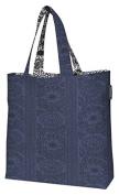 Finlayson Taimi Reversible Bag, Cotton, Dark Blue/Black/White, 45 x 42 cm