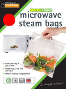 Toastabags Microwave Steam Bags, Transparent, Pack of 100, Medium