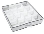 Compactor World of Storage16 Compartment Drawer Organiser 40 x 40 x 9cm, White/Grey