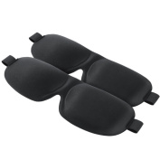 2-Pack, Plemo 3D Sleep Masks, Contoured Natural Material Light Blocking Eye Blindfolds with Hook and loop Fastener, Eye Mask with Curved Cups for Eye Movement, Night Eyeshades Blinder for Travel or Daily Use