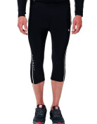 Ultrasport Men's Running Pants Capri with Compression Effect & Quick-Dry-Function