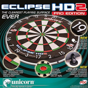 Unicorn Men's Eclipse HD2 Pro Edition Pdc with Unilock Dartboard, Black/Red, One Size
