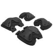 GIM Protective Safety Gear Adjustable Knee Pasd & Elbow Pads For Tactical Airsoft Combat Protective Skate