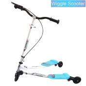 Y Flicker Wiggle Scissor Scooter, 3 Wheels Foldable Speeder Push Swing Scooter Tri Slider for Kid Age 5+
