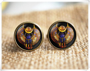 Egyptian Scarab Cuff links, Ancient egypt jewellery, Historical Cuff links