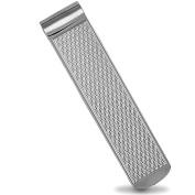 Jewelco London Sterling Silver Diamond pattern Money clips