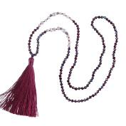 KELITCH Natural Pearl Crystal Beaded Necklace Handmade Long Tassels Pendants New Fashion Charm Jewellery