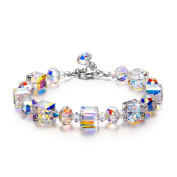 """LADY COLOUR """"A Little Romance"""" Bracelet for Women with Crystals from ® - Allergen-free and Passed SGS Inspection"""