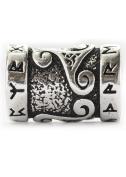 Battle Merchant Viking Beard Bead Dreadlocks Bead Genuine Silver Bead with Runes and Triskelion Internal Diameter 7 mm