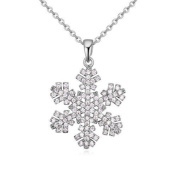 eUnique 925 Sterling Silver Snowflake Necklace Complete with Elegant Gift Box - Perfect for Winter!