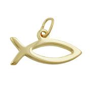 Pendant fish christian symbol 8k gold