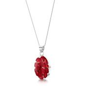 Shrieking Violet Sterling Silver Real Poppy Medium Oval Pendant & 46cm Chain