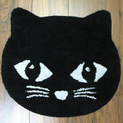Just Contempo 100% Cotton Black Cat Rug