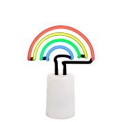 Rainbow Indoor Decorative Neon Light Figurine Tube Desk Lamp with Adjustable Dimmer