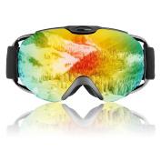 Ski Goggles - Homeme Snowboard Goggles Mens & Women, Double Lens Anti-fog, 100% UV Protection