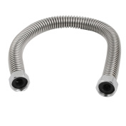 Unique Bargains 40cm Stainless Steel Flexible Explosion-proof Shower Hose for Water Heater