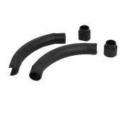 20mm Plastic Floor Heating Pipe Bender Protective Cover Black 2pcs