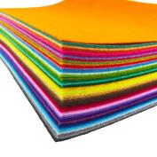 flic-flac 48pcs 10 x 10 inches (25cm x 25cm) Felt Fabric Sheet Assorted Colour Felt Pack DIY CraSquare fts Nonwoven