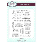 Sue Wilson A5 Clear Stamp Set - CEC881 Cheers To You
