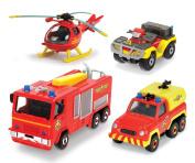 Dickie Toys 203099630401 – Fireman Sam 4-Part Vehicle Set