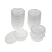 huichang 20 Pc Slime Storage Containers Foam Ball Storage Cups Containers With Lids