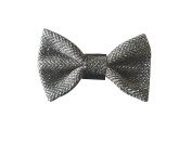 dog bow tie grey tweed simply slips over your dogs collar One size fits all