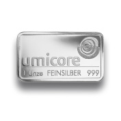 Umicore 999 fine silver bar, 30ml – individually packed in plastic