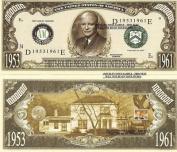 Novelty Dollar 34th President Dwight D Eisenhower Dollar Bills X 4