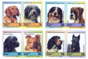 Tuvalu Nukulaelae 1985 Dogs Set of 8 Stamps MNH / Later Printing of 1985 Issue