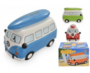 Surf bus money box, ideal present comes boxed and with choice of colour. Campervan money box