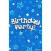 8 Holographic Party Invites With Envelopes Blue Boys Birthday Party