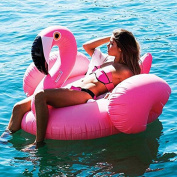 Missley Large Inflatable Flamingo Floating- Floatie Ride On Rideable Blow Up Summer Fun Pool Toy Lounger Floatie Raft for Kids & Adults