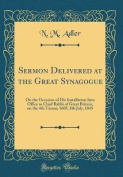 Sermon Delivered at the Great Synagogue