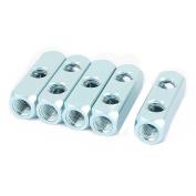 Unique Bargains 5Pcs Air Pneumatic Aluminium 1/4PT Thread 5 Ports 2Way Manifold Block Splitter