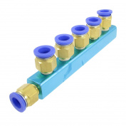12mm Pneumatic Air Hose Piping 6 Way One Touch Fitting Quick Coupling
